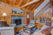 Charming interior of Valley View Cabin