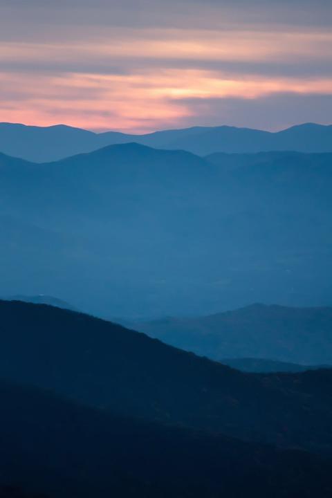 Romantic Asheville Sunset