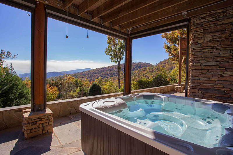Hot Tub and Views From At Last