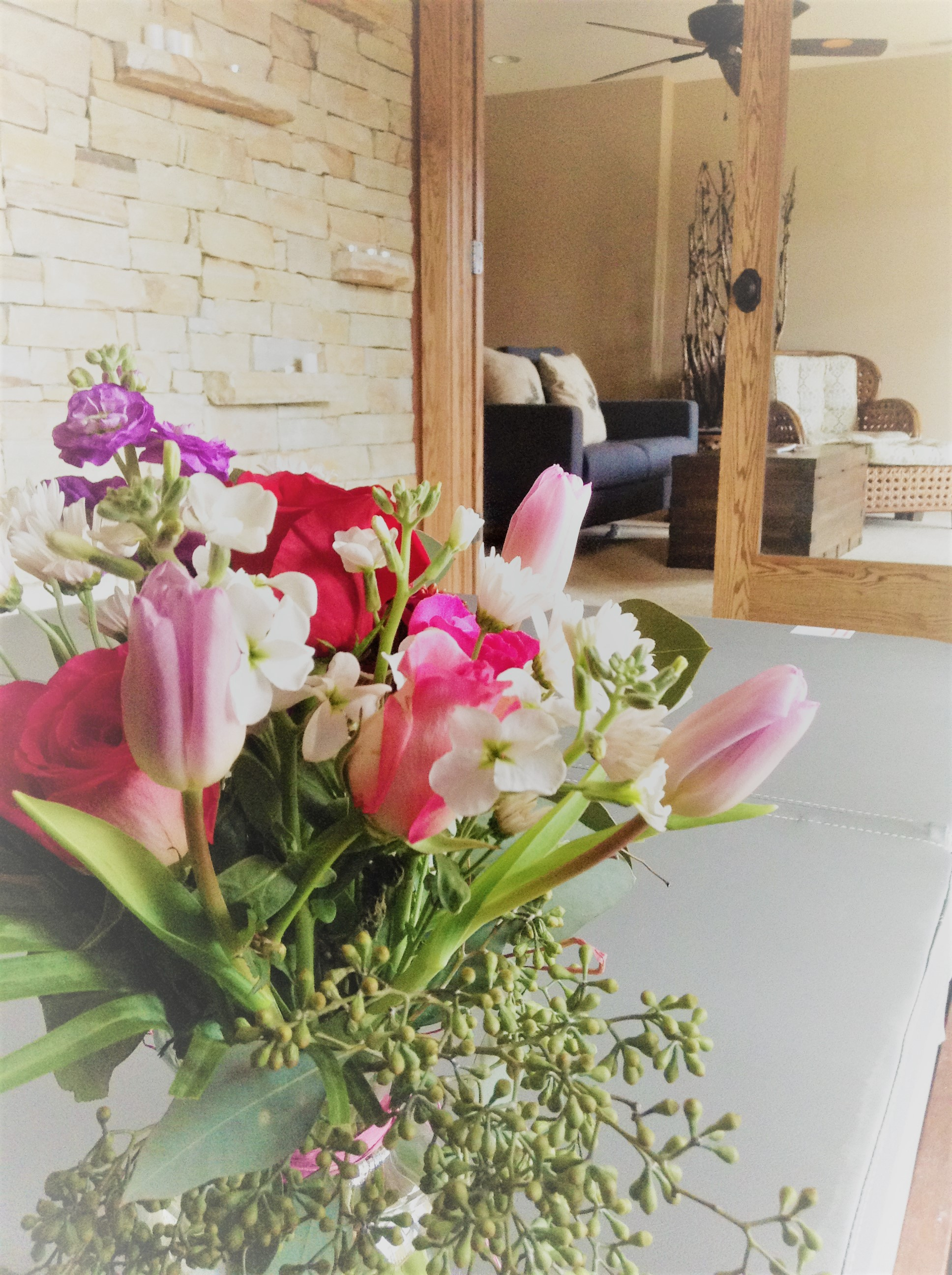 Local flower arrangement greybeard rentals